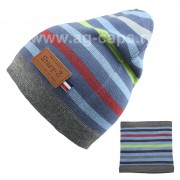 Комплект детский ANPA 220 M-12B (шапка двойная+снуд одинарный) - Фото