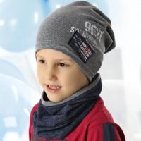 Комплект детский AJS 220 40-201 (одинарный трикотаж+снуд одинарный трикотаж) [52-54]