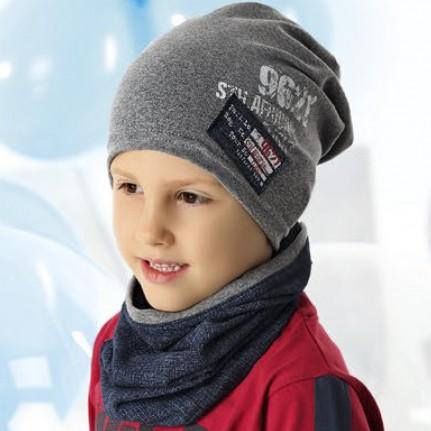 Комплект детский AJS 220 40-201 (одинарный трикотаж+снуд одинарный трикотаж) [52-54] - Фото