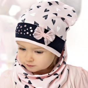 Шапка детская AJS 220 40-038 (одинарный трикотаж) [44-46] - Фото