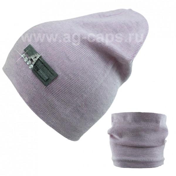 Комплект детский ANPA 220 M-55B (шапка двойная+снуд одинарный) - Фото