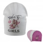 Шапка детская SELFIE CZd LPT GIRLS 220400 H2 (двойной трикотаж)  - Фото