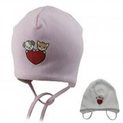 Шапка детская SELFIE CZd HEART BABY 220409 H2 (двойной трикотаж)  - Фото