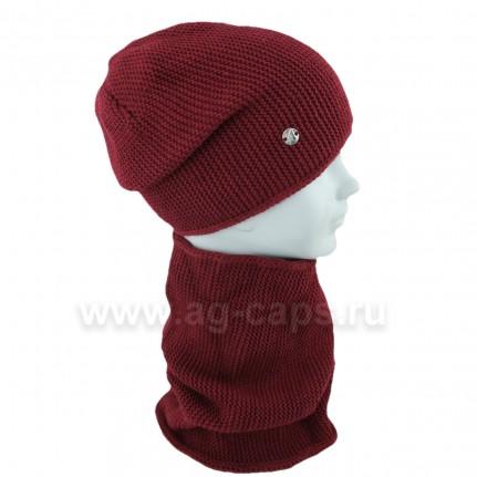 Комплект детский AGBO 420 3095 NEBRASKA (на флисе)+(снуд одинарный) - Фото