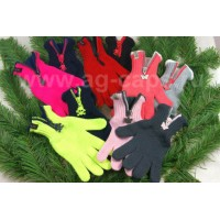 Перчатки детские MARGOT BIS 420 FUNNY ZIP (на флисе на пальцах одинарные)