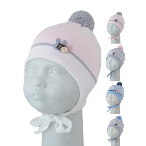 Шапка детская SELFIE CZmd 1 TWOBUNNY 420433 ACR-Н (на подкладке) - Фото
