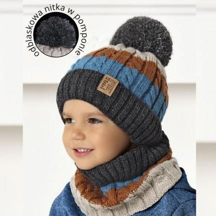 Комплект детский AJS 420 40-521 (подкладка флис)+(снуд одинарный) - Фото