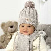 Комплект детский AJS 420 40-416 (подкладка хлопковый флисе Футтер)+(шарф одинарный) - Фото