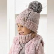 Комплект детский AJS 420 40-497 (подкладка хлопковый флисе Футтер)+(снуд одинарный) - Фото