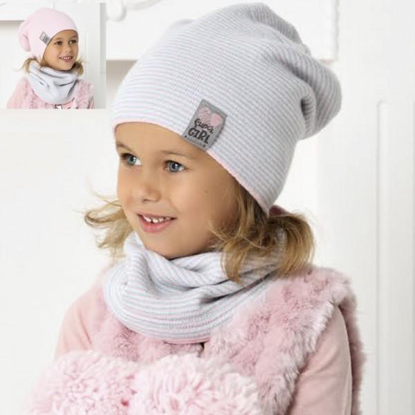 Комплект детский двусторонний AJS 420 40-488 (двойная вязка)+(снуд двойной) - Фото