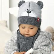 Комплект детский AJS 420 40-415 (подкладка хлопковый флисе Футтер)+(шарф одинарный) - Фото