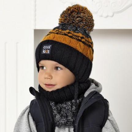 Комплект детский AJS 420 40-460 (подкладка флис)+(снуд одинарный) - Фото