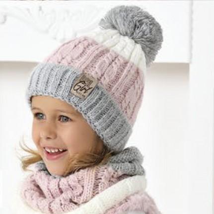 Комплект детский AJS 420 40-486 (подкладка хлопковый флис Футтер)+(снуд одинарный) - Фото