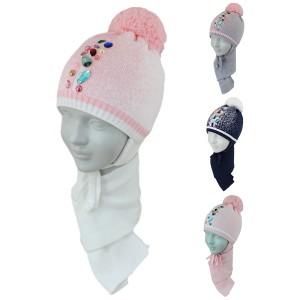 Комплект детский SELFIE KPL1d1 VIRGINIYA 420464 ACR-SHH (SHELTER)+(шарф одинарный) - Фото