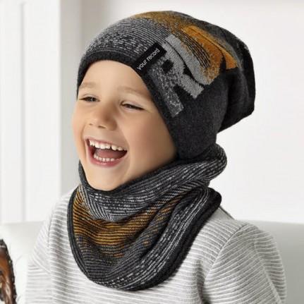 Комплект детский AJS 420 40-505 (подкладка флис)+(снуд одинарный) - Фото