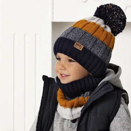 Комплект детский AJS 420 40-468 (подкладка флис)+(снуд одинарный) - Фото
