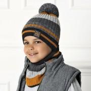 Комплект детский AJS 420 40-555 (двойная вязка)+(снуд одинарный) - Фото