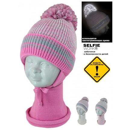 Комплект детский SELFIE KPL2d1 ASYA 420470 ACR-SHH (SHELTER)+(снуд двойной)  - Фото