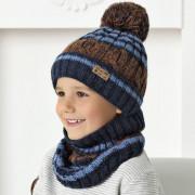 Комплект детский AJS 420 40-523 (подкладка хлопковый флисе Футтер)+(снуд одинарный) - Фото