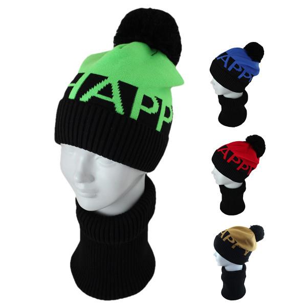 Комплект детский SELFIE KPL2m1 HAPPY 420473 ACR-Y (подкладка флис)+(снуд двойной)  - Фото