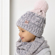 Комплект детский AJS 420 40-449 (подкладка хлопковый флис Футтер)+(снуд одинарный) - Фото