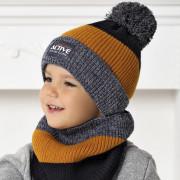 Комплект детский AJS 420 40-499 (двойная вязка)+(снуд двойной) - Фото
