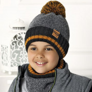 Комплект детский AJS 420 40-558 (подкладка флис)+(снуд одинарный) - Фото