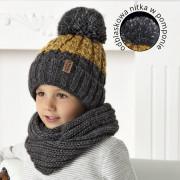 Комплект детский AJS 420 40-518 (подкладка хлопковый флисе Футтер)+(снуд одинарный) - Фото