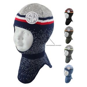 Шапка-шлем детская SELFIE SHLm0 420481 SILUAN (на хлопковой подкладке)  - Фото