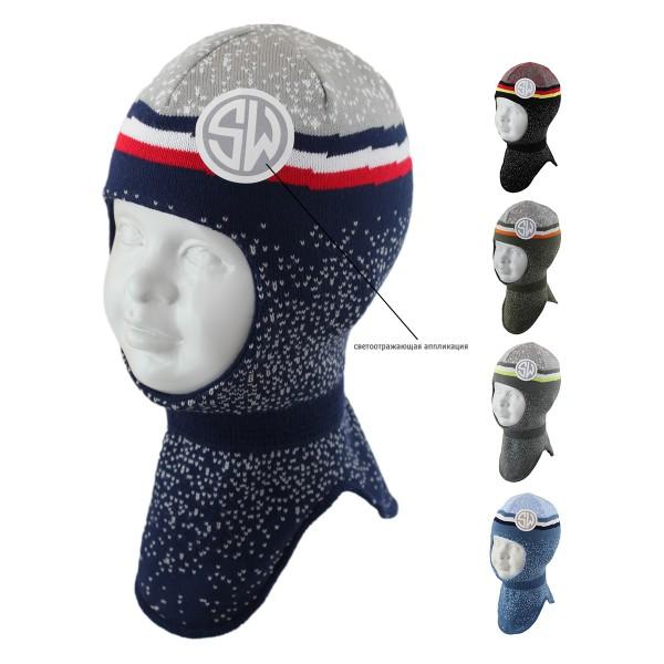 Шапка-шлем детская SELFIE SHLm0 420481 SILUAN ACR-H (на хлопковой подкладке)  - Фото