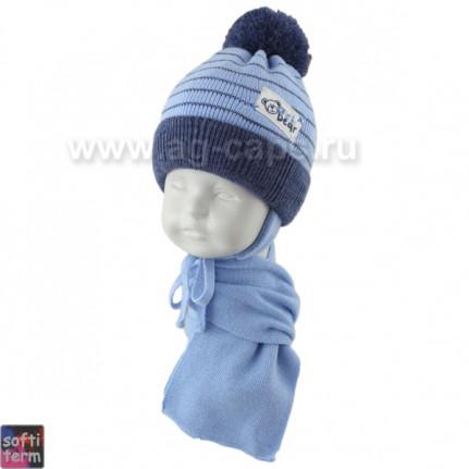 Комплект детский GRANS 420 A-1087ST kat KA17 (ISOSOFT)+(шарф одинарный) - Фото