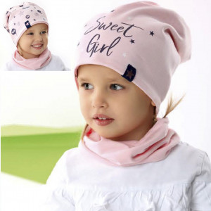 Комплект детский двусторонний AJS 221 42-082 (двойной трикотаж+снуд двойной трикотаж) [52-54] - Фото