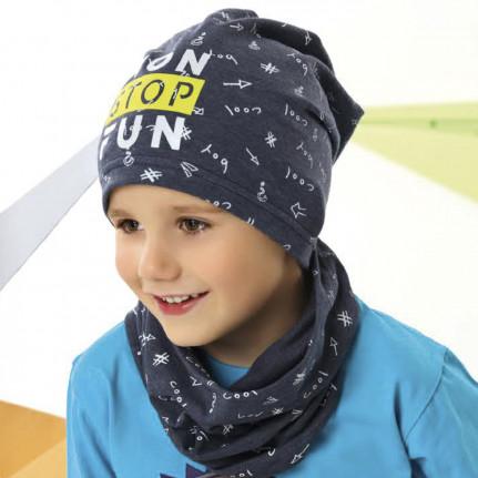 Комплект детский AJS 221 42-113 (одинарный трикотаж+снуд одинарный трикотаж) [48-50] - Фото