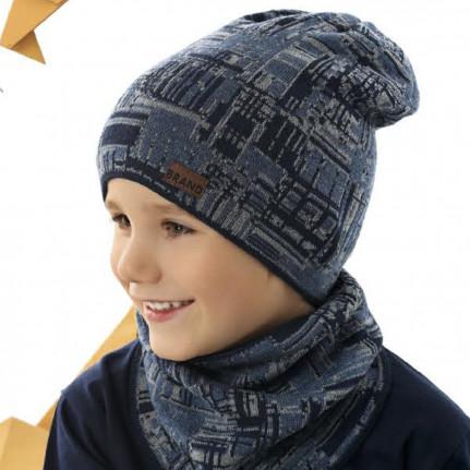Комплект детский AJS 221 42-215 (одинарная вязка+снуд одинарной вязки) [46-48] - Фото
