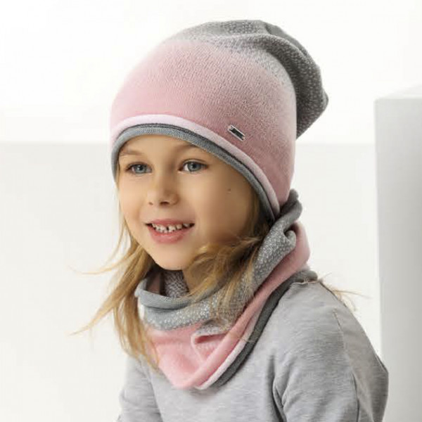 Комплект детский AJS 221 42-141 (одинарная вязка+снуд одинарной вязки) [50-52] - Фото