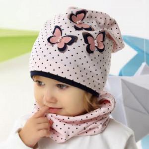 Шапка детская AJS 221 42-029 (одинарный трикотаж) [48-50] - Фото