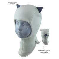 Шапка-шлем детская SELFIE SHLd 0 421623 CATTA ACR-Y (на флисе)