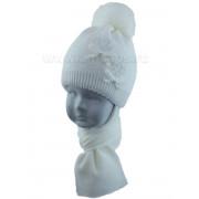 Комплект детский GRANS 421 A-1137-ST (хлопковая подкл+утеп. SOFTITERM)+(шарф одинарный) - Фото