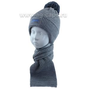 Комплект детский GRANS 421 A-1089-ST (хлопковая подкл+утеп. SOFTITERM)+(шарф одинарный) - Фото