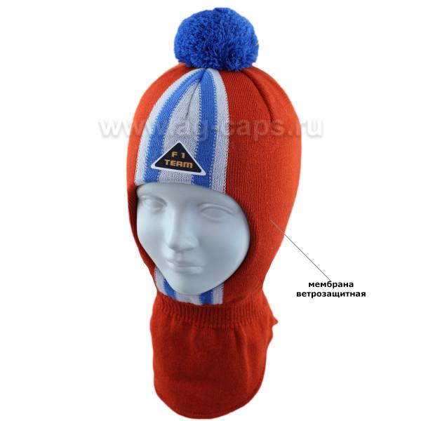 Шапка-шлем детская AGBO 421 4656/52-54 RUPERT (на хлопковой подкладке+утеп.SUPERWARM) - Фото