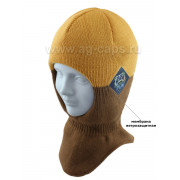 Шапка-шлем детская AGBO 421 4655/52-54 MONK (на хлопковой подкладке+утеп.SUPERWARM) - Фото