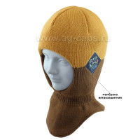 Шапка-шлем детская AGBO 421 4655/52-54 MONK (на хлопковой подкладке+утеп.SUPERWARM)