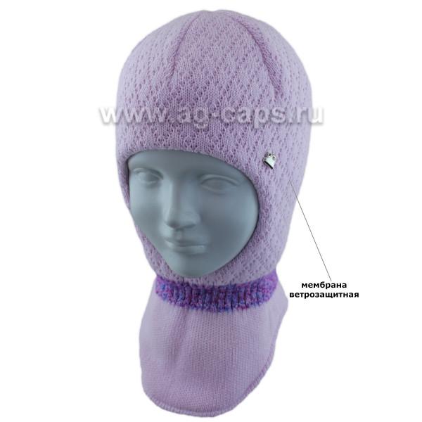 Шапка-шлем детская AGBO 421 4984 ARUBA (на хлопковой подкладке+утеп.SUPERWARM) - Фото