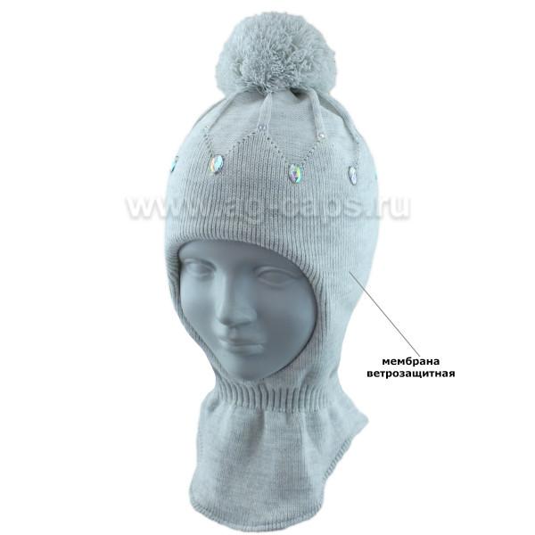 Шапка-шлем детская AGBO 421 4996 ASTI (на хлопковой подкладке+утеп.SUPERWARM) - Фото