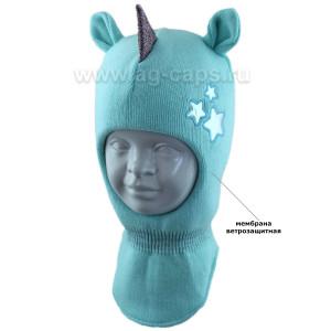 Шапка-шлем детская AGBO 421 4755 ROZA (на хлопковой подкладке+утеп.SUPERWARM) - Фото