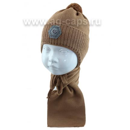 Комплект детский AGBO 421 5073 Lorenc (на флисовой подкладке)+(шарф одинарный) - Фото